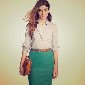 Jcrew Pencil skirt in double-serge wool